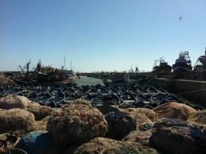 petit apres midi et ballade dans le port d'Essaouira