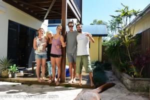 Marni, baby Marlon, Geraldine, GG, Tim, Simon et la queue de Sunny