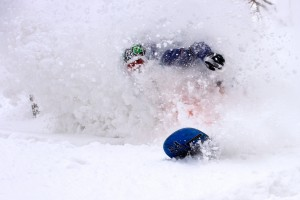 Simon Favez in the powder at Hakuba.
